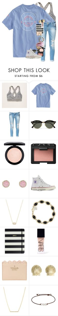 """EDSFTG // Erin Leigh"" by southern-preps1 ❤ liked on Polyvore featuring Aerie, Zara, Ray-Ban, MAC Cosmetics, NARS Cosmetics, Charlotte Russe, Converse, Kendra Scott, Kate Spade and Tiffany & Co."