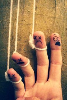 finger people  Iiiiiiii am a man, of constant sorrows.....  (soggy bottom boys)