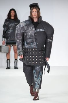 "The International Show graduate collection  Looks like the soldiers in the Disney movie ""Mulan"""