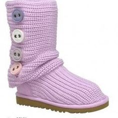 Knit Ugg Boot. Love the color!