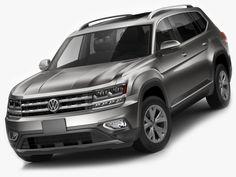 Volkswagen Atlas Teramont 2017 3D Model .max .c4d .obj .3ds .fbx .lwo .stl @3DExport.com by fisherman3d