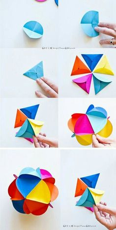 How to make an origami, 55 ideas in photos and videos! Origami Diy, Origami Paper, Diy Paper, Paper Art, Paper Crafts, Oragami, Heart Origami, Simple Origami, Origami Lamp