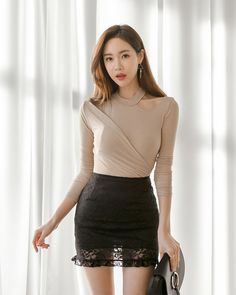 Sand Races Skirt discovered by Amber P on We Heart It Classy Outfits, Sexy Outfits, Fashion Outfits, Korean Girl Fashion, Asian Fashion, Korean Beauty, Asian Beauty, Cute Little Girl Dresses, Beautiful Asian Women