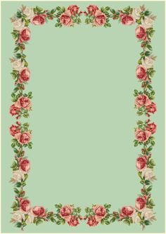 Free printable vintage rose stationery - ausdruckbares Briefpapier - freebie | MeinLilaPark – DIY printables and downloads