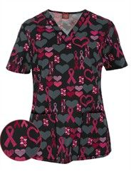 Show your support for breast cancer awareness in Dickies Cure For The Cause Scrub Top. For a great collection of Pink Ribbon Scrubs & accessories, shop at UA! Cute Nursing Scrubs, Medical Scrubs, Work Looks, Scrub Tops, Work Attire, Work Fashion, Cure, Perfect Fit, Phlebotomy