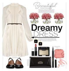 """Dreamy Dress"" by suzanne228 ❤ liked on Polyvore featuring Giambattista Valli, Acne Studios, Christian Louboutin, NARS Cosmetics, Guerlain, Asha by ADM, Illamasqua and Chantecaille"