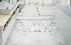 Maxfine Arabescato Walls and Floors Large Format Porcelain Tiles. www.tilesupplysolutions.com