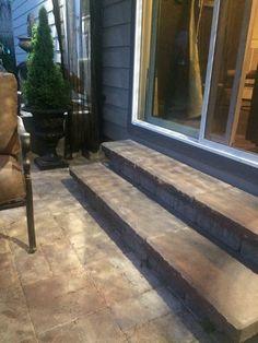 paver bricks | grayslake lake county il | stoop design portfolio ... - Patio Steps Design