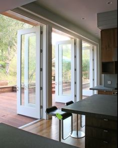 Modern Patio Doors/Kitchen