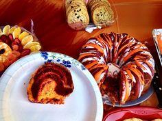 Orange and Maroon bundt cake  Taylor Lynne