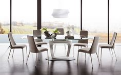 Orbital dining table by Calligaris, Italy.