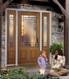 Although it seems easy, choosing an exterior door can be quite difficult. This is because the kind of exterior door material is very diverse. Interior Exterior, Exterior Doors, Exterior Design, Door Design, Exterior Remodel, Glass Panel Door, Glass Front Door, Front Doors, Front Porch