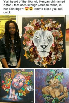 Beautiful art by a beautiful young lady 😍 Black Girl Art, Black Women Art, Black Art, Art Girl, Black Girls, African American Art, African Art, By Any Means Necessary, Black History Facts