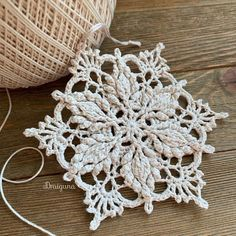 Crochet Doily Patterns, Crochet Motif, Crochet Doilies, Crochet Yarn, Crochet Flowers, Crochet Stitches, Crochet Coaster, Crochet Thread Size 10, Crochet Snowflakes