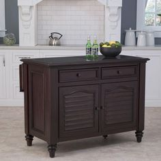 Home Styles Bermuda Kitchen Island with Espresso Finish-5542-94 at The Home Depot