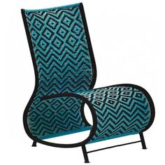 Moroso Toogou Chair For Outdoors In Four Possible Color Combinations ($560) ❤ liked on Polyvore featuring home, outdoors, patio furniture, outdoor chairs, blue, outdoor furniture sets, outdoor furniture, woven outdoor furniture, painted patio furniture and colored patio chairs