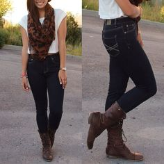 The high waisted #jegging is a #fashion essential this fall...love! #fallfashion