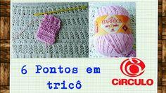 Versão Canhotos: 6 Pontos em tricô para iniciantes # Elisa Crochê