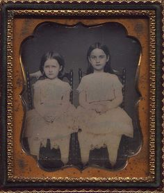 Sisters  Photo by: Anonymous, USA Date: c. 1850s Type: 1/6 Plate Daguerreotype