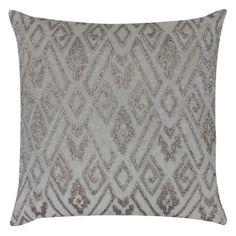 Eos Silver Ornate Throw Pillow CL9EOS03AIV