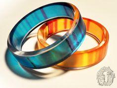 Thinking With Portals - resin bangle set