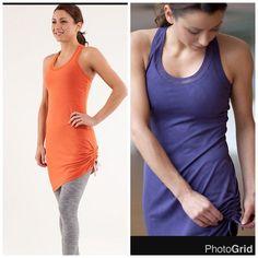 Lululemon It's a Cinch Dress, sz 10, heathered orange