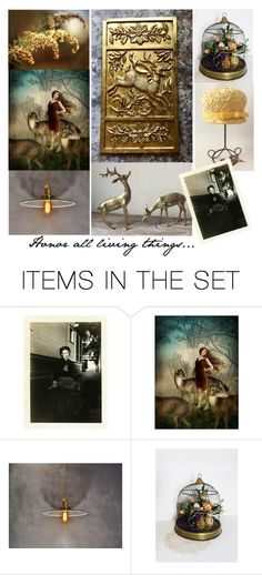 """""""Honor all living things..."""" by artsdesireable ❤ liked on Polyvore featuring art, vintage and etsyfresh"""