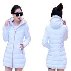 New Women 2015 Winter Thick Slim Parkas Jackets Solid Down Cotton Full Sleeve Long Female Outwear Coats Plus size M XXXL WC88-in Down & Parkas from Women's Clothing & Accessories on Aliexpress.com US $35