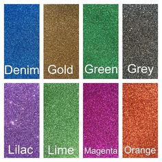 Glitter Felt  High Quality Wool Blend or Polyester Felt topped with a layer of fine glitter. Cuts easily with scissors and will not fray. Can be hand sewn, machine sewn and die cut. No glitter shedding.  Size: Sheet 25cm x 30cm (10 x 12) or mini roll 25cm x 50cm (10 x 20) For Neon Glitter Felt: https://www.etsy.com/uk/listing/478506394/neon-glitter-felt-6-colours For Candy Pink/White/Stardust/Gold Holo Glitter Felt: https://www.etsy.com&#...