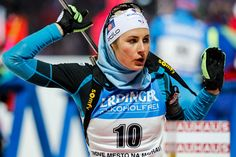 Justine Braisaz of France in action during the IBU Biathlon World Cup Women's Sprint on December 16, 2016 in Nove Mesto na Morave, Czech Republic.