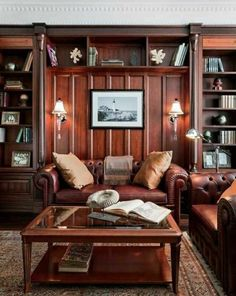 Amazing Retro Home Office Design Ideas With Vintage Home Office Design Ideas For. Amazing Retro Home Office Design Ideas With Vintage Home Office Design Ideas For Men Masculine Interior, Modern Interior Design, Masculine Room, Classic Interior, Home Office Design, House Design, Office Designs, Vintage Home Offices, Vintage Office