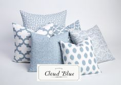 Cloud Blue Collection / Decorative Throw Pillow by Pillomatic
