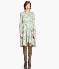 this could be paired with pretty much any kind of boot and the ruffles aren't too flouncy