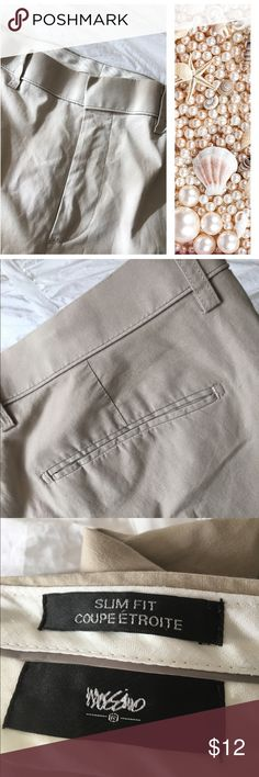 💼🌿NWOT Men's Slim Fit Khaki Pants New without tags. Bought for son for school uniform, but living in Florida he never wore them because he preferred shorts! 97% cotton 3% spandex Message me if you are interested in purchasing more than one pair. Offers welcome. Mossimo Supply Co. Pants Chinos & Khakis