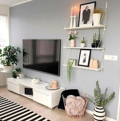 simple living room decor {Have a peek at this web-site Room Rugs, Rugs In Living Room, Living Room Designs, Ideas Decoracion Salon, Ikea Picture Ledge, Wall Storage Cabinets, Ikea Pictures, Simple Living Room Decor, Bedroom Simple