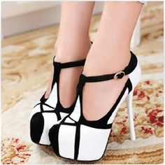 Fashionable Contrast Color Stiletto Heels