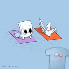 Origami Yoga, Origami Paper, Cute Puns, Funny Puns, Cute Comics, Funny Comics, Funny Cartoon Drawings, Drawing Lessons For Kids, Design Comics