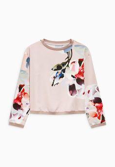 NEXT Bluza sport roz pastel cu imprimeu floral Femei image_1
