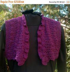 ON SALE 50% Off Crochet Purple Bolero Woodland by PixiesFairies