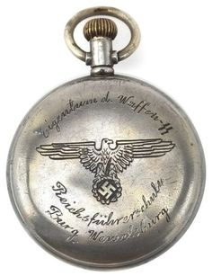 A Zunghans stopwatch manufactured for the Waffen-SS with the eagle and swastika. Nagasaki, Hiroshima, Fukushima, Ww2 Pictures, Coin Ring, German Army, World History, Military History, World War Two