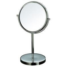 """Furnistar Round 7"""" Double Sided Makeup Cosmetic Mirror 3X Magnification Swivel Head Chrome Finish"""