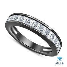 D//VVS1 18 EternalDia 3//4 cttw Simulated CZ Diamond Solitaire Pendant Necklace in 925 Silver
