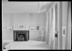 Whitney Museum of Modern Art. Grey gallery north fireplace. Date: January 31, 1932  10 West 8th Street.