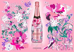MARZAC 7 in Nakameguro awaits your visit wrapped in the beautiful CHANDON Rose design! Food Packaging, Packaging Design, Moet Chandon, Rose Design, Bottle Design, Layout Design, Painting & Drawing, Alcohol, Pink