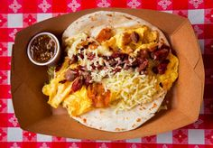 The Wrangler Breakfast Taco Recipe: Brisket, potatoes and eggs wrapped up for brunch