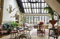 New York Penthouse Full Of Antiques - ELLEDecor.com