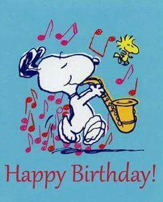 Snoopy plays a jazzy Happy Birthday riff. Birthday Cartoon, Happy Birthday Meme, Happy Birthday Pictures, Happy Birthday Messages, Happy Birthday Greetings, Birthday Fun, Snoopy Birthday Images, Card Birthday, Sister Birthday