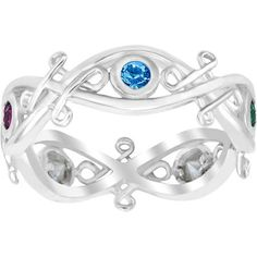 Personalized Mother's Sterling Silver Celtic Birthstone Band $59.00 +$6.97 in Tax +$9.00 2yr Care Plan = $74.97 (5 Birthstones Dec 98', Sept 00', Dec 08', Oct 11', June 15'.)