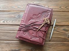 Fine Genuine Leather Cover Journal Diary Business Agenda A5 Leather Notebook #MakeyStudio