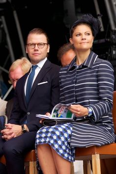 Crown Princess Victoria  and Prince Daniel attended celebrations to mark the 1,000th Anniversary of Skara Diocese on August 30, 2014 in Skara, Sweden.